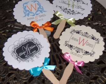 Wedding Fans with Monogram