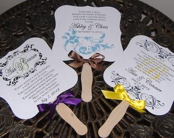 Wedding Fans Personalized Program