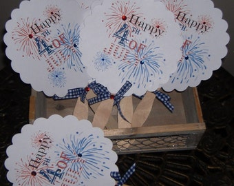 4th of July Party Fan Red, White, Blue - Set of 50