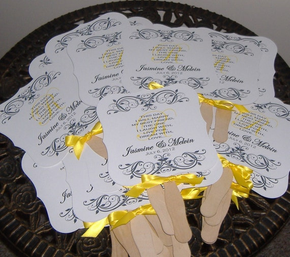 Wedding Fans with Program
