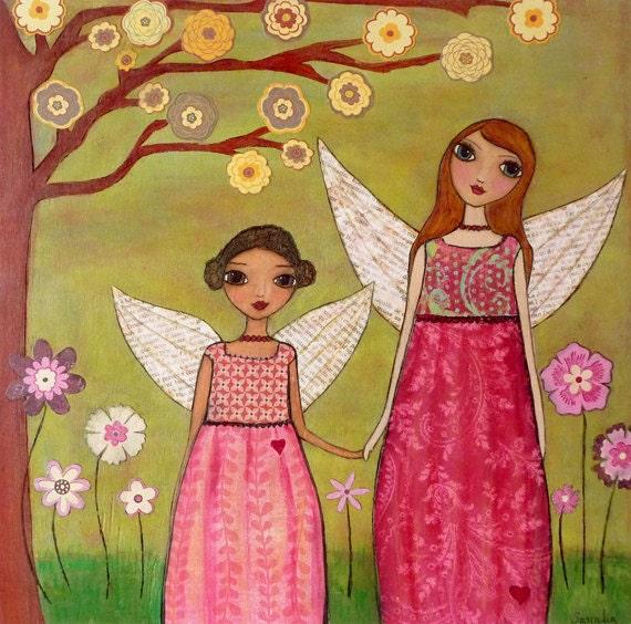 Nursery decor baby girl nursery art fairy painting fairy for Baby girl nursery paintings