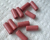 Ceramic Beads, Cylinder, 15X6mm, 10 pcs, Salmon Red   4208-03