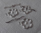 Toggle Clasps, Silver Plated Brass, Flower 3 Set   no. 93455SP