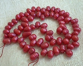 Freshwater Pearl Drops - Valentine Red