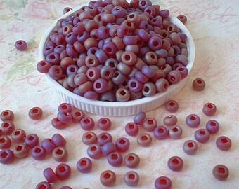 Czech Seed Beads 6/0 Opaque Matte Iris Brown, 20 grams   no. 0992-0719