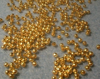 Round Spacers, 2.4mm, goldplated 6 grams 0222GP