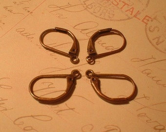 Leverback Earwires, Antique Copper, 18X10mm, 20 Pcs.    No. 13004-AC