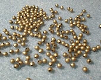 Round Spacers, Antique Bronze, 2.4mm, 6 Grams  0222ab