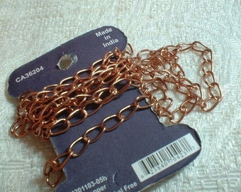 Curb Chain, 7X4mm, Antique Copper Plated, (no.1103-05H), 1 meter