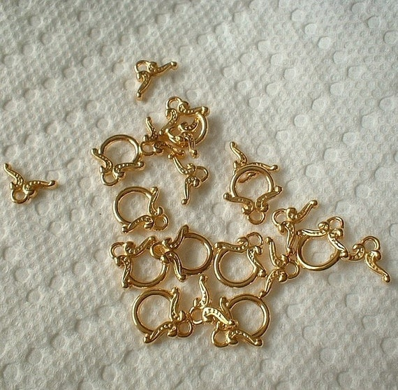 Toggle Clasps, 12mm, Package of 10 sets, Gold Plated   0971-04