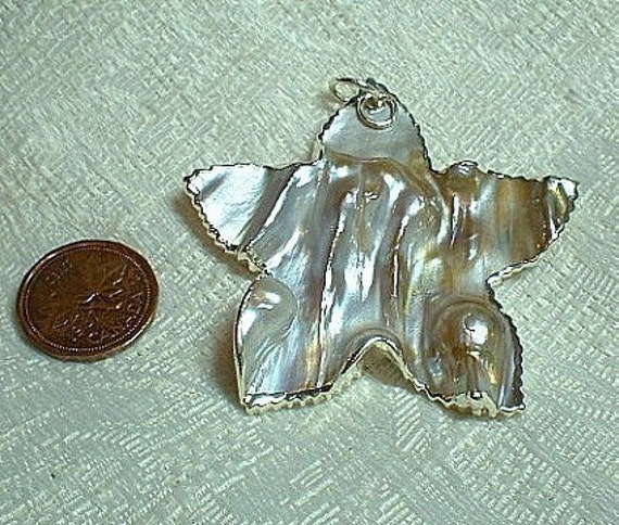 Freshwater Shell Starfish or Star Pendant - SALE