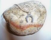 Sterling Silver HORSESHOE Pendant/VALENTINE Gift/Horseshoe Necklace