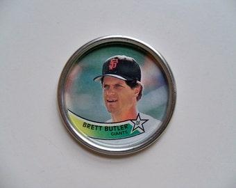 BRETT BUTLER TOPPS Baseball Coin/Topps Baseball Souvenirs/Baseball Souvenirs
