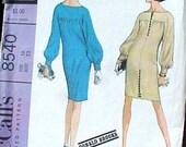 Vintage Designer DONALD BROOKS Dress Pattern UNCUT McCalls 8540
