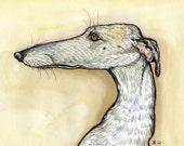 A Little Invitation - GREYHOUND DOG PRINT
