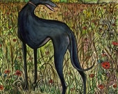Greyhound Dog Print