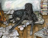 I could have lied - Deerhound Art Dog Print 5 x 7 inch