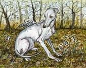 Angel of Innocence - Italian Greyhound Art Print