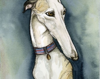 A Little Propriety - Whippet Dog Art Print