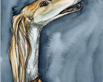 Saluki Art Dog Print