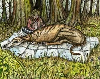 The Woods- GREYHOUND DOG PRINT