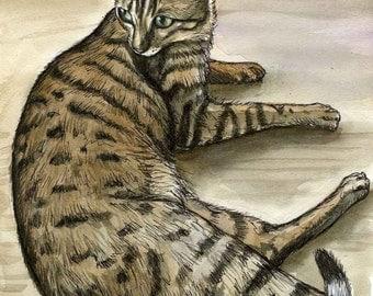 Bengal Cat Print