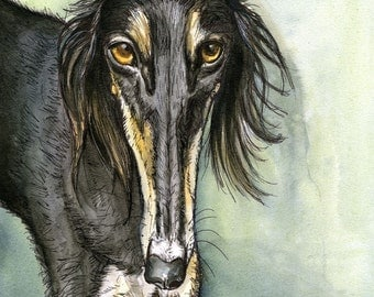 A Little Rapture - Saluki Hound Dog Print