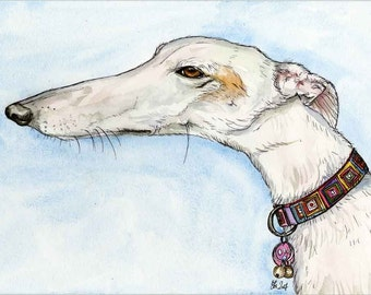 A Little Blessed - GREYHOUND DOG PRINT