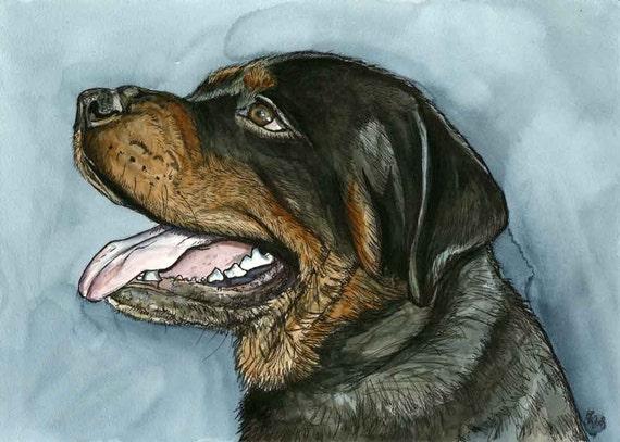 ROTTWEILER DOG PRINT