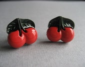 cherry bomb stud earrings