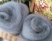 Blue Jay Gray Over Dyed Wool Batt