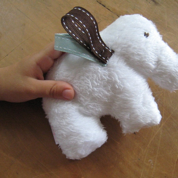 Jingly fluffy baby elephant toy