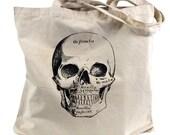 Skull Tote Bag - Medical Anatomical Skull Bag