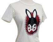 Rabbit T-Shirt - Rabbit Cameo Ladies Shirt - Available in sizes S, M, L, XL