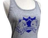 Unicorn Narwhal Tank Top - Team MAGIC Sleeveless Shirt - (Ladies Sizes S, M, L, XL)
