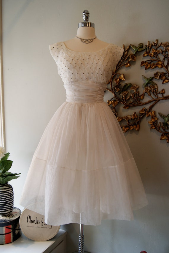 Wedding dress 50s wedding dress vintage 1950s by for Vintage 1950s wedding dress