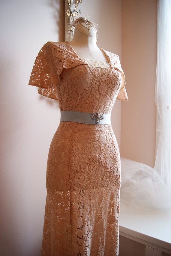 Wedding Dress 30s Wedding Dress Vintage 1930s By
