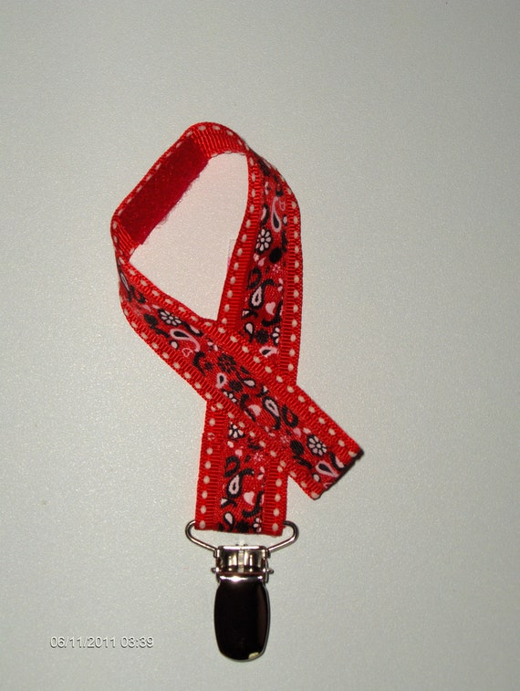 Red Bandana Bathroom Decor: Red WESTERN BANDANA PACIFIER Holder For Your By