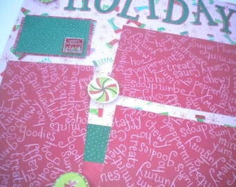 HOLIDAY CHEER 12 x 12 premade scrapbook pages - Christmas