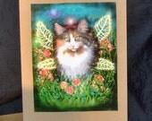 Kitty Cat Fairy Greeting Card