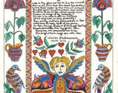Collection of Sonnets by Shakespeare Surrounded by a Fraktur Border from   Theodora