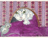 Cat and Mouse ACEO by Theodora