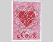 ACEO Love with Heart Word Series by Theodora