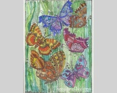 BUTTERFLY,BUTTERFLY,BUTTERFLY Aceo Print from Theodora