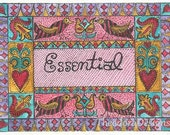 ESSENTIAL Word Inspiration Fraktur Aceo Word Print  by Theodora