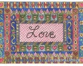 Love Fraktur Aceo Word Print  by Theodora