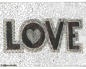 ACEO Love Print by Theodora