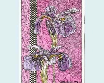 Siberian Iris Aceo Print  from Theodora