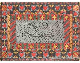 PAY IT FORWARD Fraktur Aceo Word Print  by Theodora