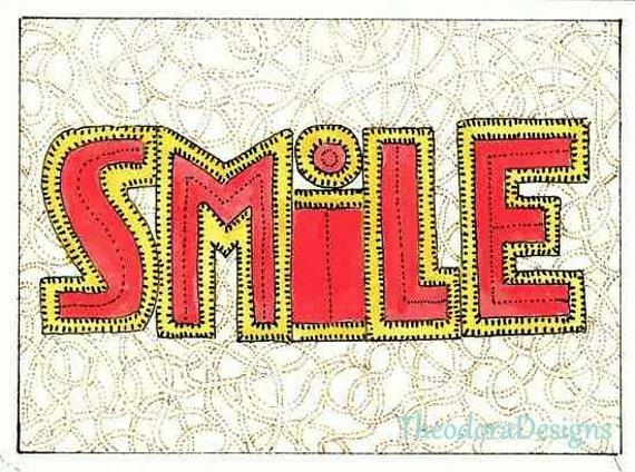 ACEO SMILE in Red by Theodora